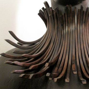 Necklace | Gerda Monies.  Water buffalo horn || Please note that a fellow pinner, Amaury a professional jeweller http://pinterest.com/amaurych/ has indicated that the material has been incorrectly stated, and should instead be Tiger Ebony.