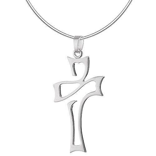 Vinani Cross Italy, AKR S Abstract Shiny with Sterling Silver 925Chain 0