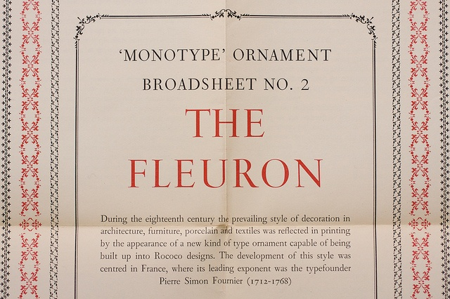 The Monotype Newsletter — The Fleuron