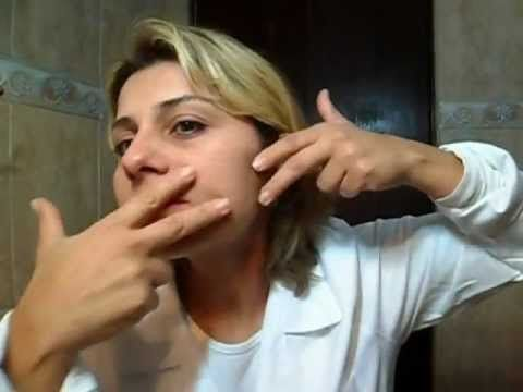 Adriana Teixeira em: Auto massagem facial,com efeito lifting instantâneo - YouTube
