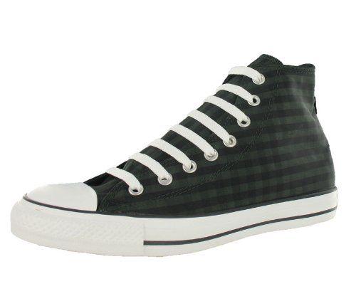 Converse All Star Chuck Taylor Special Hi Unisex Shoes Size US 6.5, Regular (D, M) Width, Color Black/White/Olive/Plaid