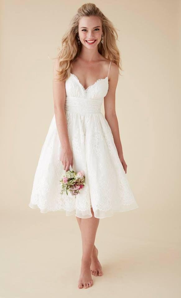 Simple, beach wedding dress