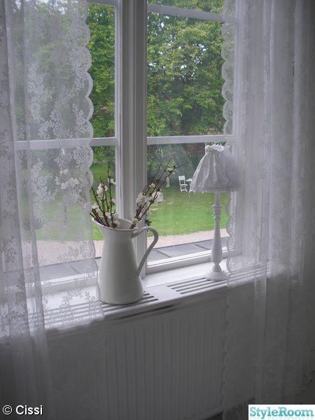 beautiful lace at window
