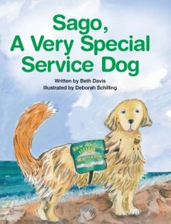 Sago,  A Very Special Service Dog, written by Beth Davis and illustrated by Deborah Schilling, is a wonderful book about a very special service dog and its handler. This book teaches children about service dogs, etiquette around them and they different types they may encounter.