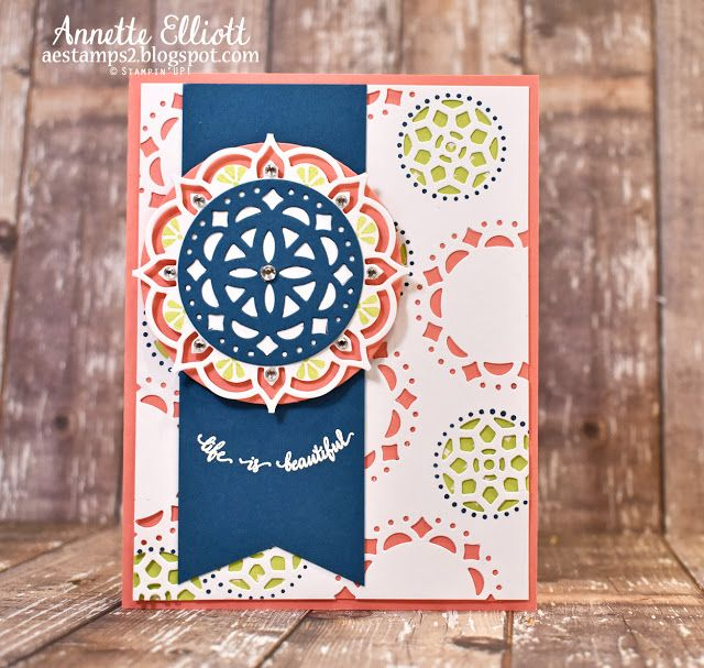 Stampin' UP! cards by Annette Elliott AEstamps a Latte...: Eastern Beauty Suite, Eastern Medallion Thinlits, In Color Lemon Lime Twist