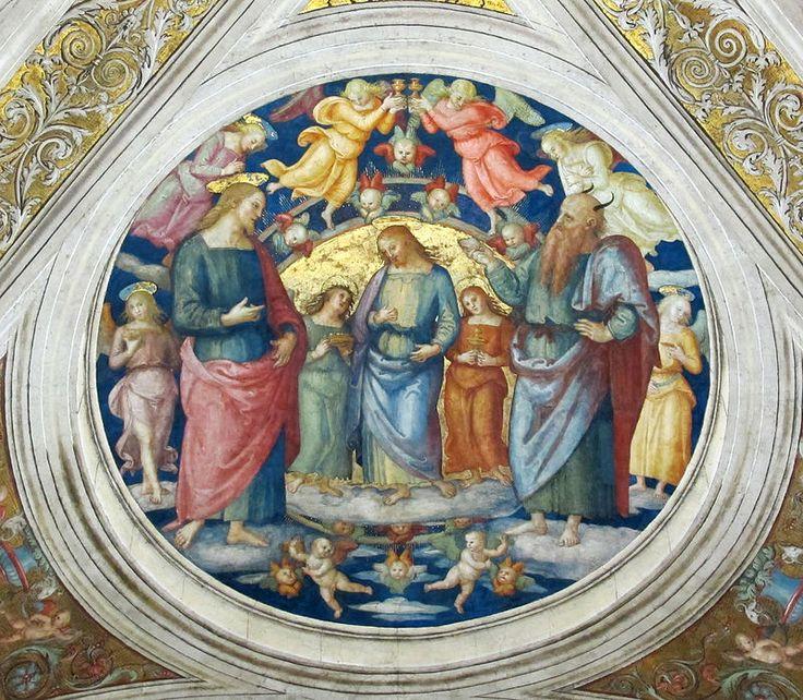 IL PERUGINO - dettaglio Soffitto Stanza Incendio del Borgo -1508 - affesco - Musei Vaticani, Citta del Vaticano