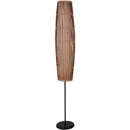 "ORE International 62"" Rattan Floor Lamp, Natural"