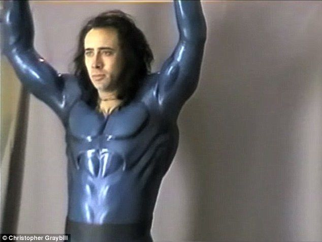 What could have been: In the late '90s, Nicolas - who is now aged 51 - was fitted for a one-of-kind steel blue Superman suit that was custom created by three-time Oscar winning costume designer Colleen Atwood