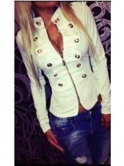 Women's  Blended Fashionable Jacket