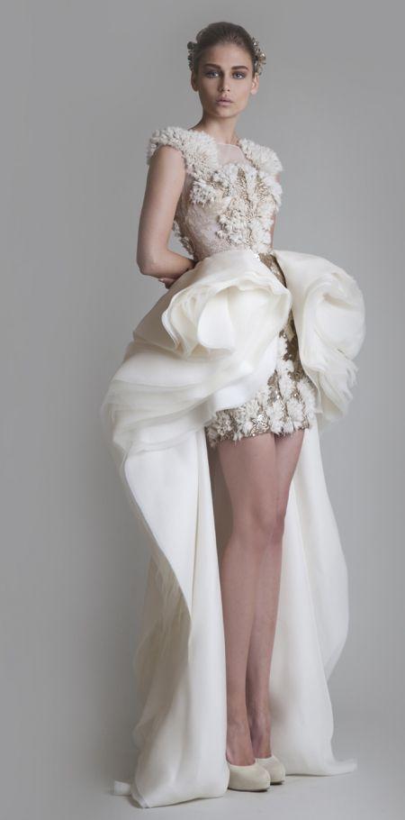 Les plus belles robes de mariée courtes Haute Couture