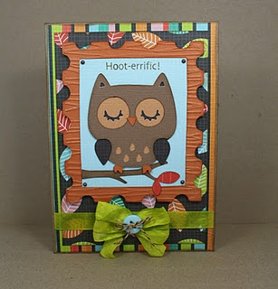 Use your Cricut Art Philosophy and Create a Critter cartridges to create this card!