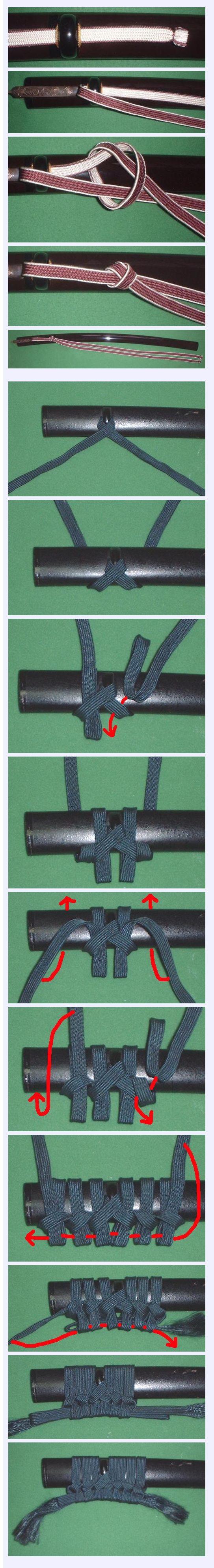 How to tie sageo on a saya
