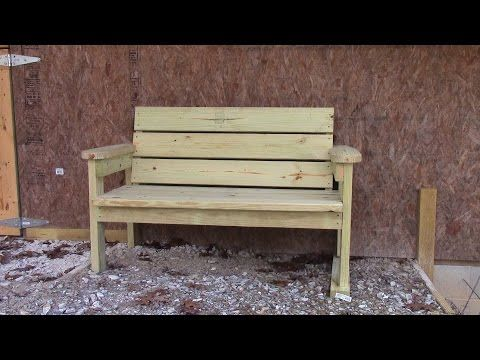 Project How To Make A Park Bench With A Reclined Seat