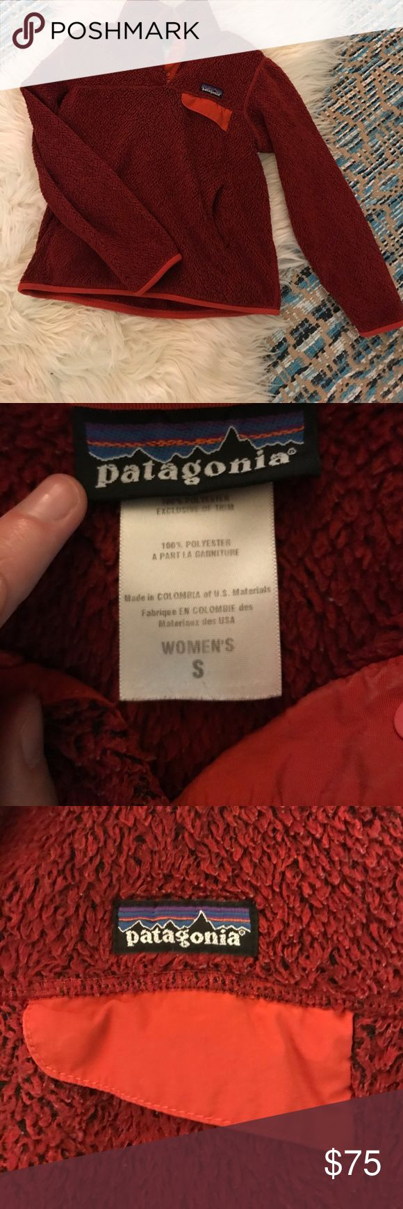 Patagonia - Red Women's Pullover Small Patagonia - Red Women's Pullover Small. Still in great condition. I have multiple of these in different colors and they are all well loved. Patagonia Tops Sweatshirts & Hoodies