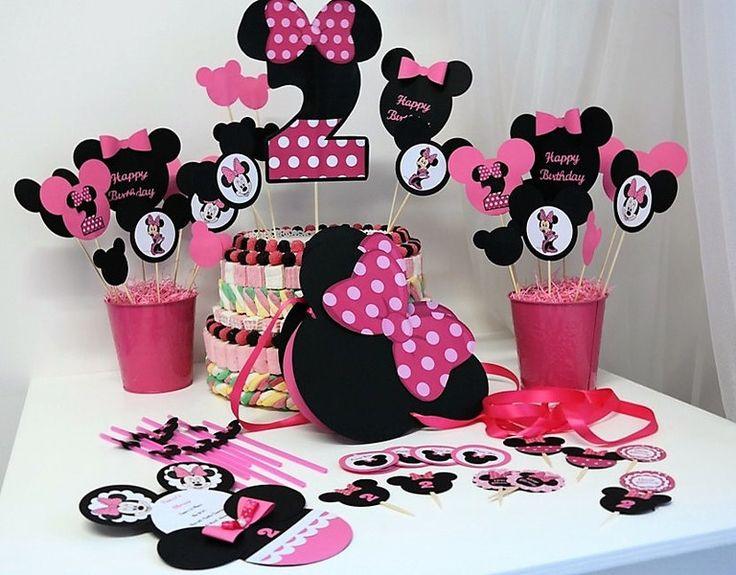 Decorazioni - Set Festa Compleanno Minnie - Personalizzabile  - un prodotto unico di PaperLoveFantasy su DaWanda