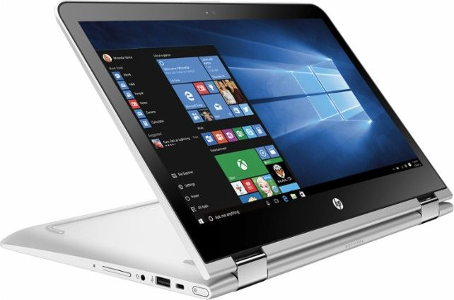 """HP - Pavilion x360 2-in-1 13.3"""" Touch-Screen Laptop - Intel Core i3 - 6GB Memory - 500GB Hard Drive - Natural silver/Ash silver - Front Zoom"""