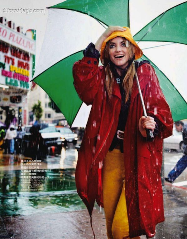 """Fun in the Rain"" by David Burton for Elle Taiwan"