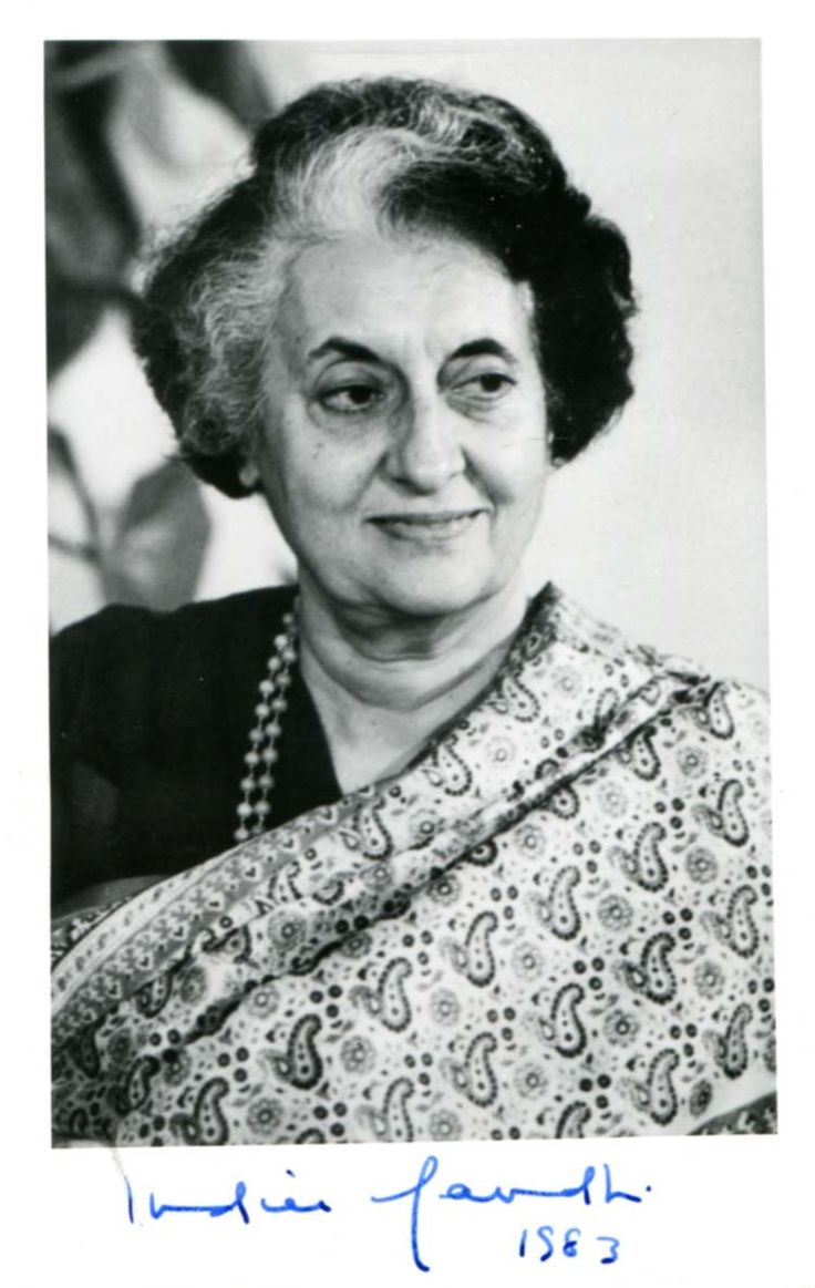 Indira Gandhi (1917-1984), was an Indian politician and central figure of the Indian National Congress party, and to date the only female Prime Minister of India. Indira Gandhi was the daughter of India's first Prime Minister, Jawaharlal Nehru. By the time she was assassinated, in 1984, Gandhi was the world's longest-serving female Prime Minister, a distinction she holds to this day.