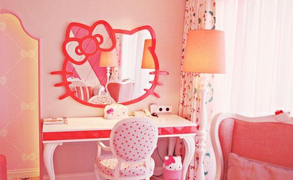 Déco chambre fille de vos rêves - hello-kitty-chamre-à-coucher-fille