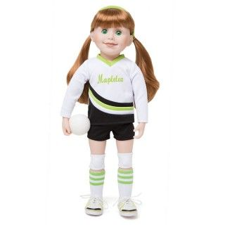 Serve, Set, Spike!: Playing a team sport is fun! Your Maplelea doll will enjoy the volleyball game too, especially when she can 'bump' the foam volleyball while...
