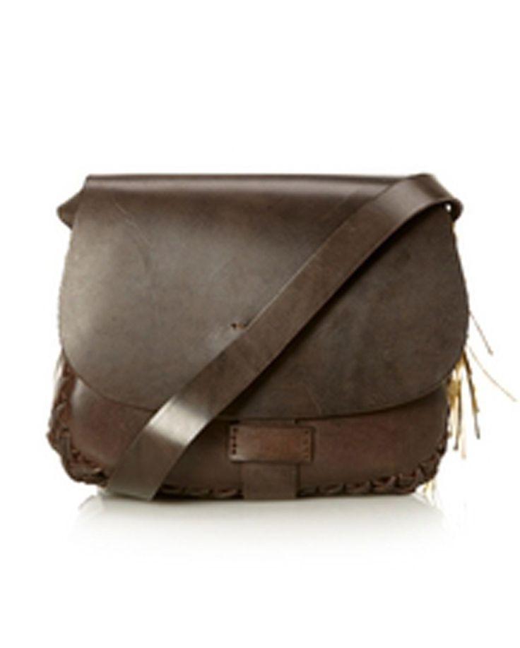 Fair Trade Cross Body Satchel Bag Brown