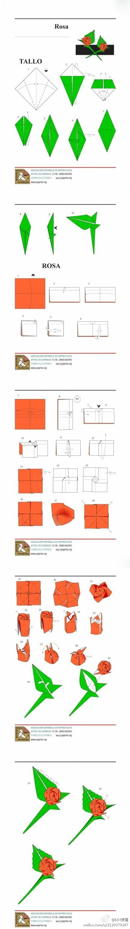 Stem Origami Rose Diagrams Electrical Work Wiring Diagram