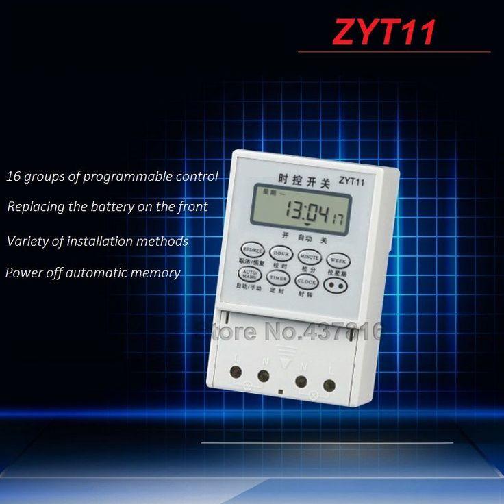 $18.00 (Buy here: https://alitems.com/g/1e8d114494ebda23ff8b16525dc3e8/?i=5&ulp=https%3A%2F%2Fwww.aliexpress.com%2Fitem%2FAC-220V-Micro-computer-Time-Control-Switch-Programmable-Timer-Switch-Relay-Control-ZYT11%2F32711957717.html ) AC 220V Micro-computer Time Control Switch Programmable Timer Switch Relay Control ZYT11 for just $18.00