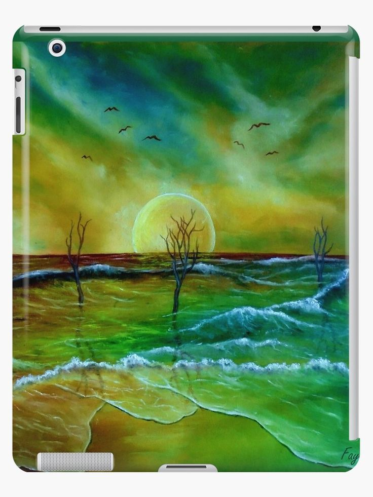 iPad Case/Skin,  coastal,waves,beach,sea,nature,sky,green,blue,golden,colorful,impressive,fantasy,unique,cool,fancy,beautiful,trendy,artistic,unusual,accessories,ideas,design,items,products,for sale,redbubble