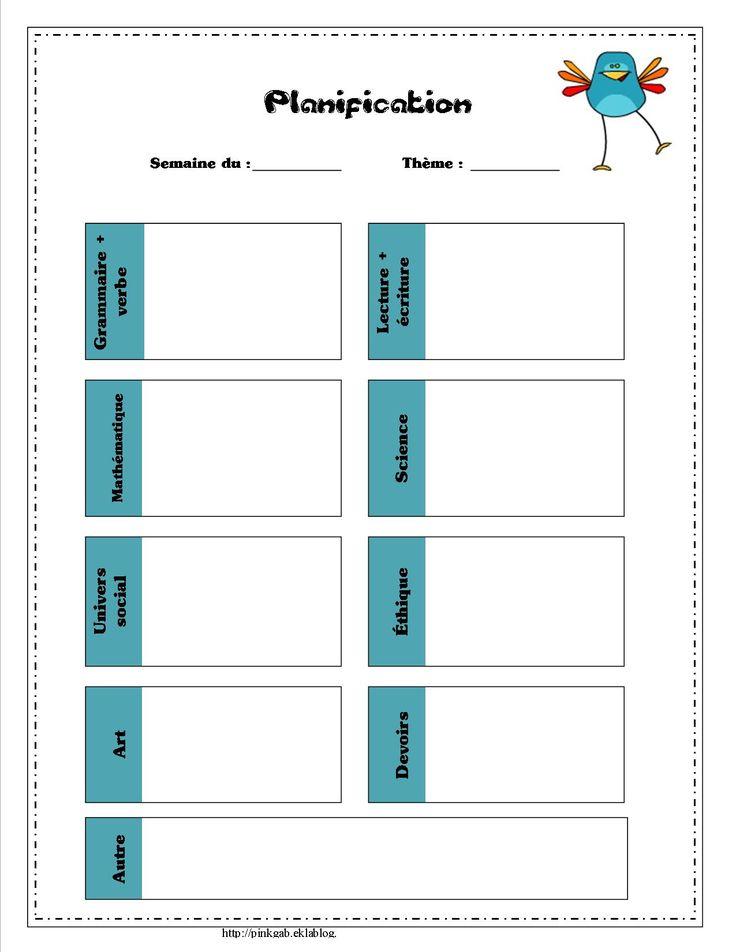 Grille de planification des apprentissages http://pinkgab.eklablog.com/
