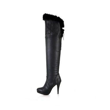 damesschoenen qq puntige teen naaldhak leer mode laarzen meer kleuren beschikbaar – EUR € 54.54