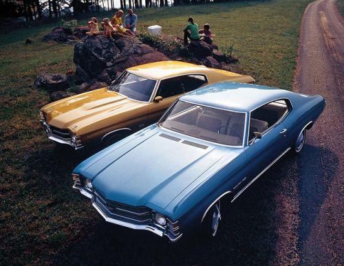 1971 Chevrolet Chevelle Malibu and SS454  by coconv on Flickr.