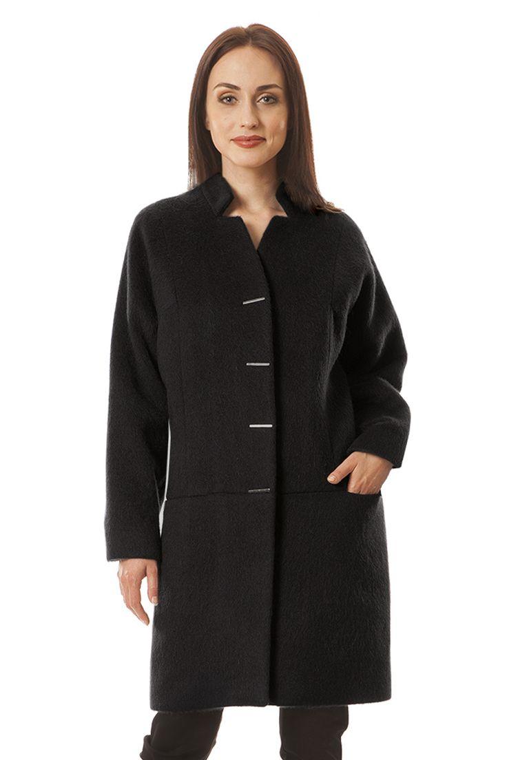 Płaszcz Matylda czarna wełna z alpaką Semper #fashion #semper #aw2016 #fw2016 #fashionbrand #black #coat
