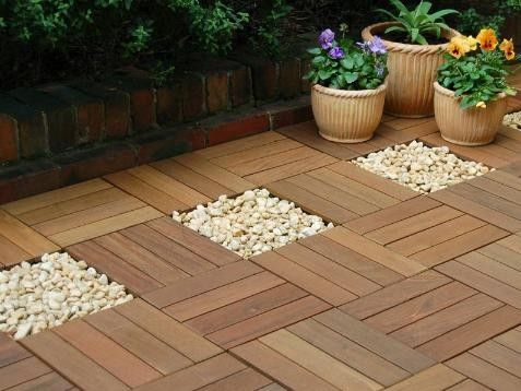 tropical products design ideas pictures remodel and decor - Matchstick Tile Garden Decoration