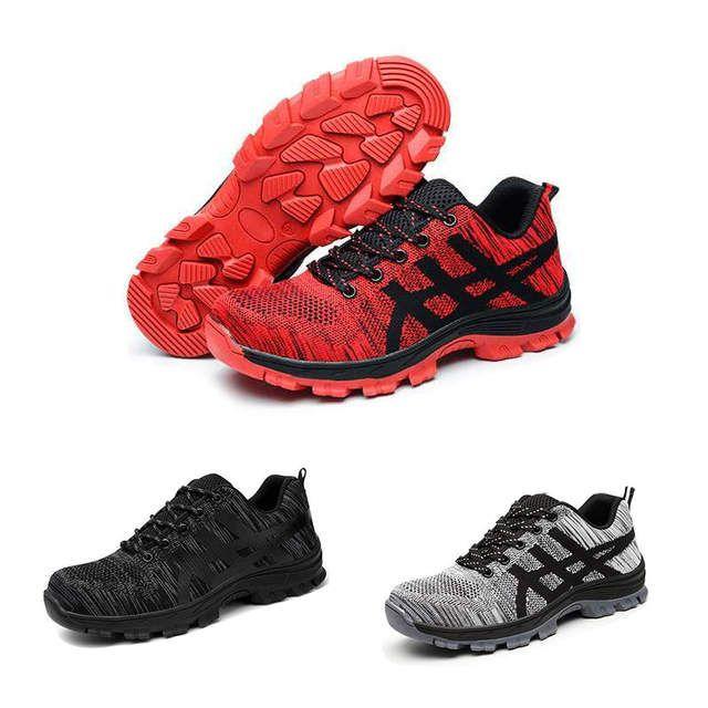 Nueva Exposicion De Moda Zapatos De Seguridad Para Hombre De Acero Toe Cubre Zapatillas De Trabajo Transpirable Verano Herram Work Shoes Safety Shoes Low Boots