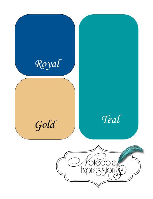 wedding colors of blue and gold blue gold teal color palette wedding pinterest color. Black Bedroom Furniture Sets. Home Design Ideas