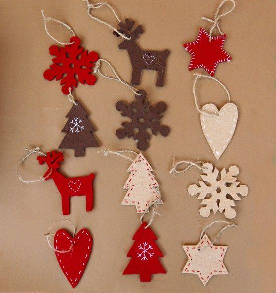 M s de 25 ideas fant sticas sobre adornos caseros de - Ideas adornos navidenos ...