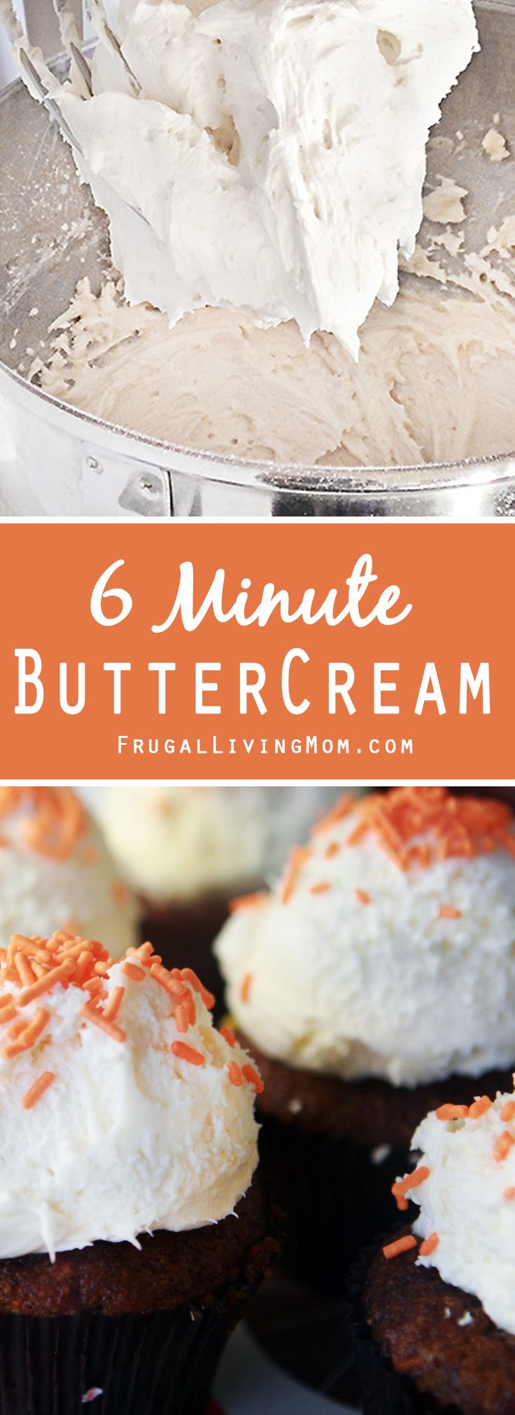 Don't you love homemade frosting? It's just so yummy. I could sit and eat a bowl. Buttercream is easy to make and only takes about 6 minutes.