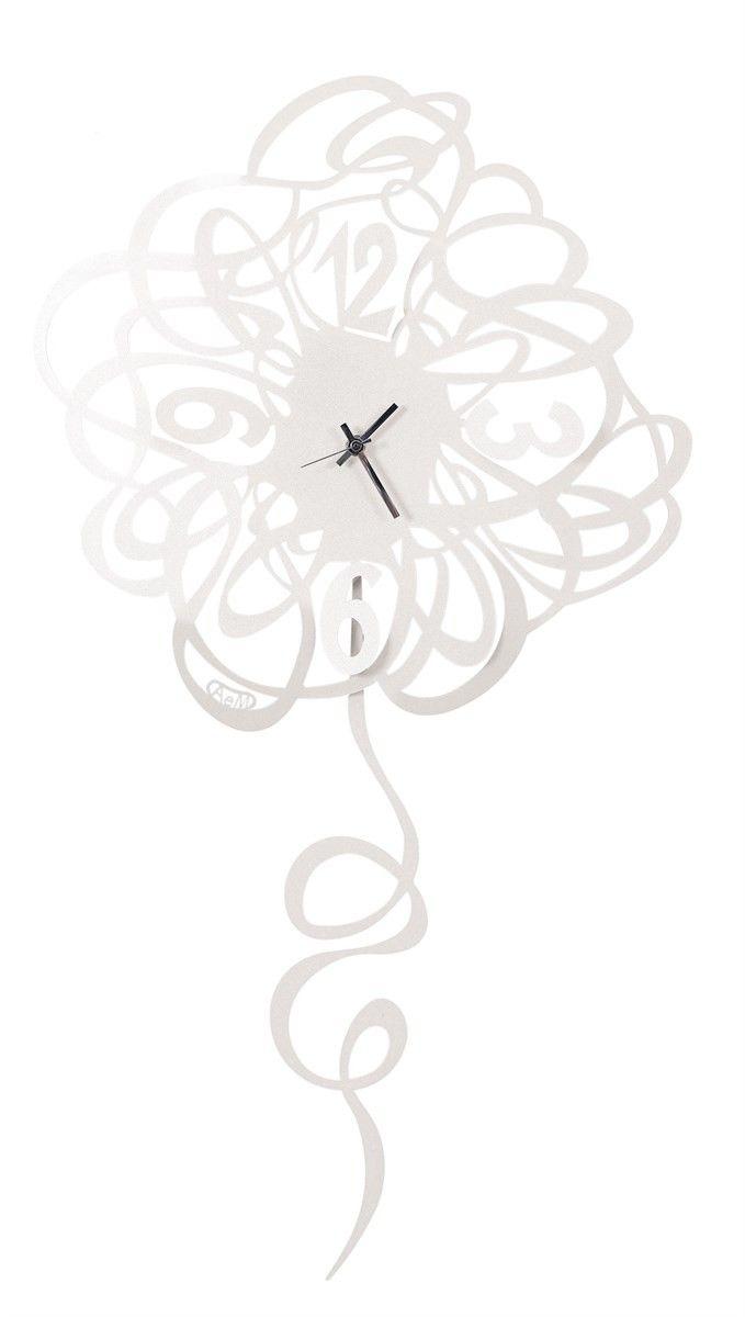 Zegar ścienny DOODLE PENDOLO Biały - Arti&Mestieri - DECO Salon #clock #wallclock #giftidea