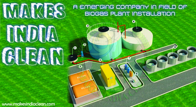 Makes India Clean (An emerging Company in field of Biogas Plants Installation):: India is a world leader in the field of Bio Gas Production. The country has highest Bio Gas Production in the world. The bio gas is produced by the anaerobic digestion of the organic waste. The Bio Gas plants use the state of art technology and anaerobic digesters are at the core of it. Makes India clean is an emerging company in the field of Bio Gas Production.
