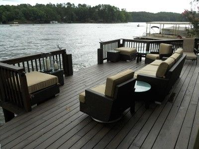 17 best images about waterfront decks and docks on for Waterfront deck designs