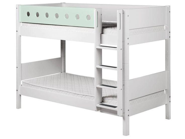 flexa white etagenbett 90x190cm mit gerader leiter wei 80 17406 19 jetzt bestellen unter - Coolste Etagenbetten