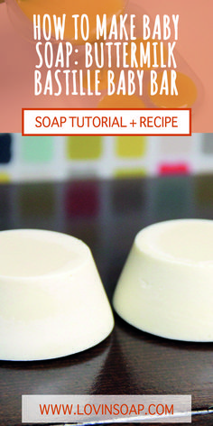 This baby soap is gentle for baby or for those with sensitive skin.