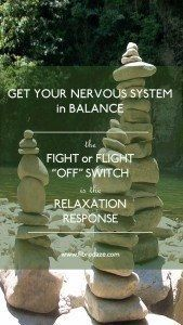 """Relaxation Response: Fight or Flight """"OFF"""" Switch"""