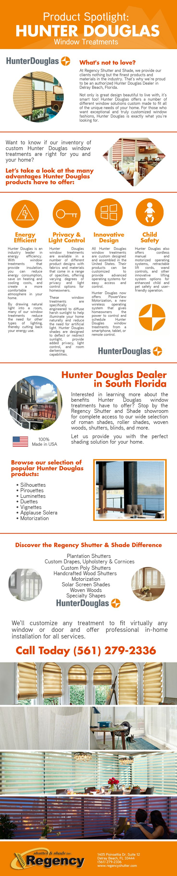 We bring you a product spotlight on hunter douglas window treatments call regency shutter shade to learn more about our hunter douglas products