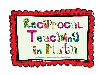 This set of task cards has been put together to support students to comprehend Mathematical word problems using the Reciprocal Teaching approach.  The Reciprocal Teaching approach has been adapted to include comprehension strategy instruction within the Mathematics problem solving context.This resource includes a set of seven role cards for small group problem solving, to explicitly teach problem solving thinking.