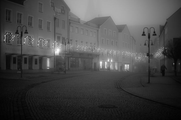 Eichstätt Marktplatz an einem Winterabend