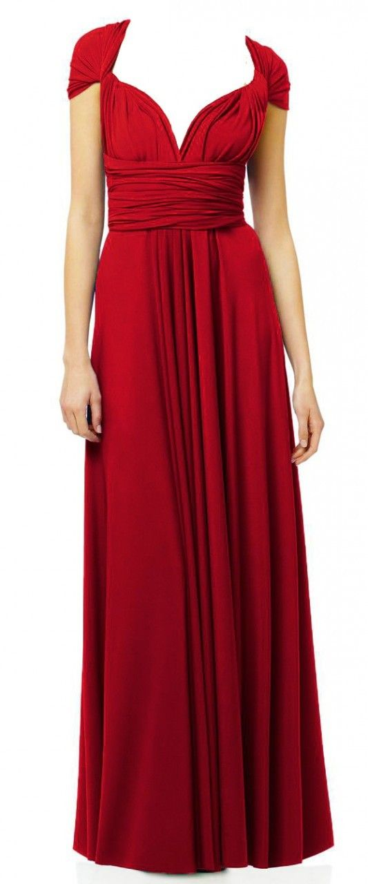 Bridesmaids, so they can have different tops if they want and can wear again. Sugar Bits - Maxi Convertible - Red, $70.00 Bride Maid Dress