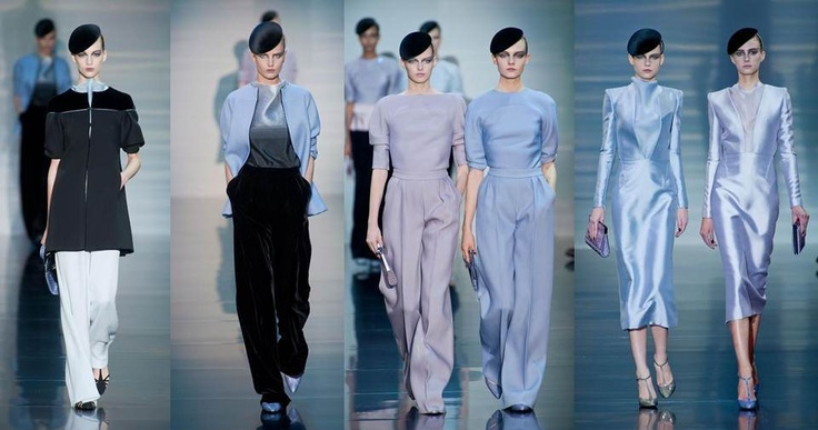 Armani: El dulce encanto de lo simple, monocromático, lineal y minimalista