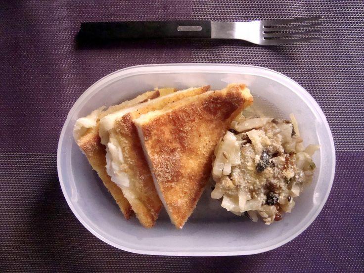 Schiscetta - Mozzarella in Carrozza con Finocchi stufati con capperi e olive taggiasche