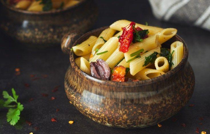 Chilli and Garlic Penne Pasta